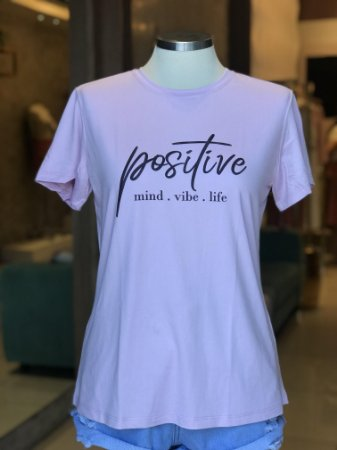 Tee luxo Lilás(floral) e Pink Positive - Sonho Bom