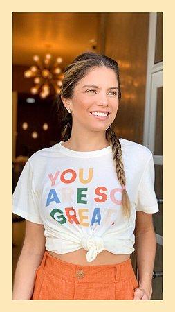Tee luxo You Are So Great - Por do Sol