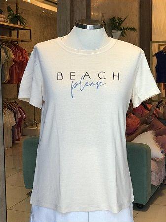 Tee luxo Beach Please - AMAR
