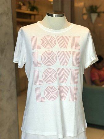 Tee luxo LOVE - AMAR