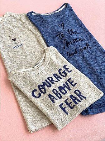 Tee luxo- Courage