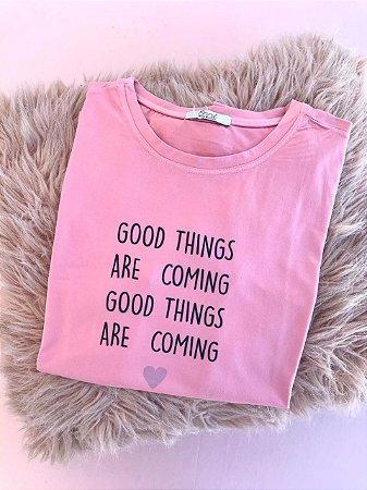Tee luxo Good Things  - Novas Chances