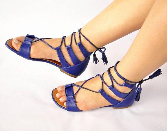 Sandália Rasteira Eco Azul