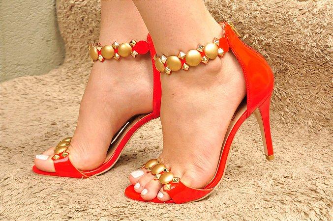 5dcb31422 Sandália Stilus Salto Fino Vermelho - Anny Shoes