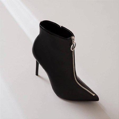 d418265f50 Bota Cano Curto Salto Fino Zíper - Anny Shoes