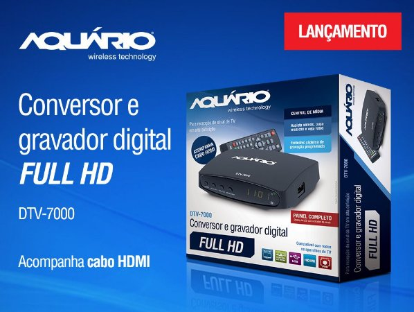 Conversor Digital Aquario DTV-7000s
