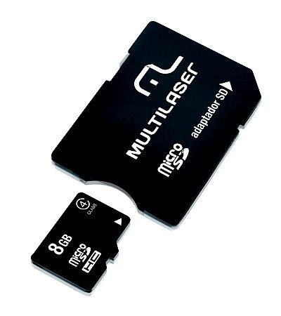 Cartão de Memoria 8GB Multilaser Micro USB classe 4 - MC004