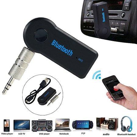 Adaptador Bluetooth P2 para som auxiliar com bateria recarregável e microfone BT-Receiver