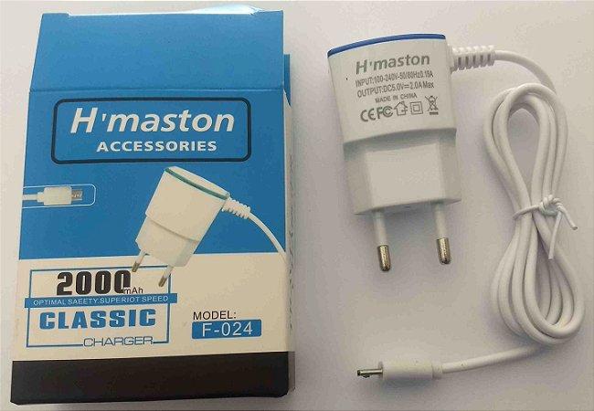 Carregador smartphone celular Micro USB V8 H maston 2A F-024