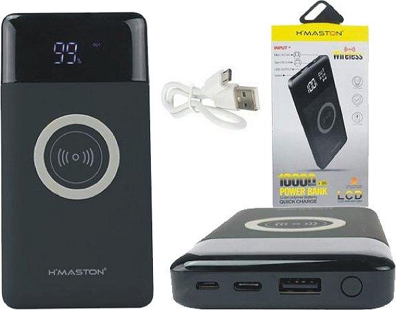 Carregador portatil power bank 10000mah H'maston H-999 Original Sem Fio