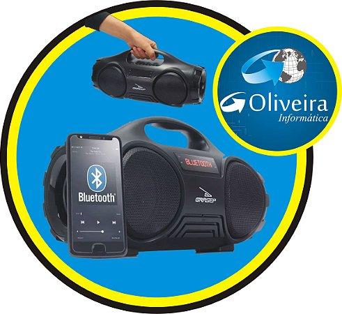 Caixa de Som Portátil Bluetooth 5.0 Cartão - pendrive - FM Grasep D-Q13