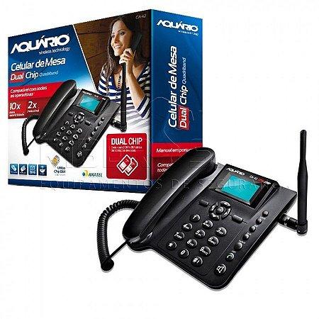 Telefone Celular de Mesa Rural DUAL CHIP CA-42S Aquario