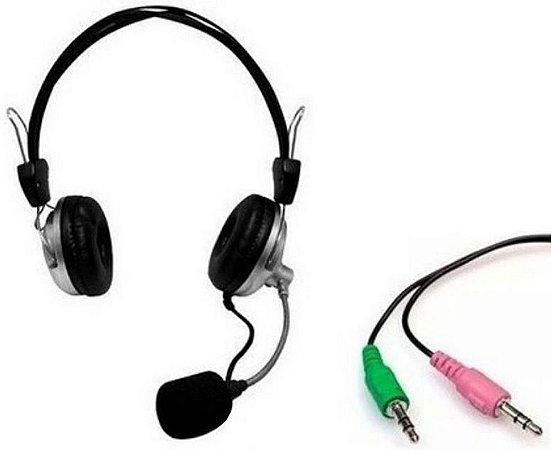 fone de ouvido com microfone para PC (computador e Notebook) Headphone HW -301