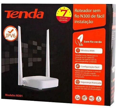 Roteador wireless wifi tenda n301 2 antena