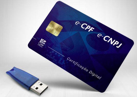 Certificado digital - E-CPF - A3 3 anos + token
