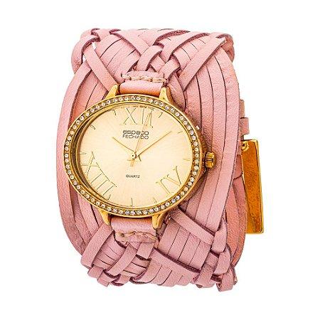 Relógio EF Bracelete Tranças Indianas, Feminino.