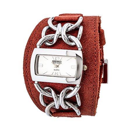 Relógio EF Bracelete de Corrente, Feminino.