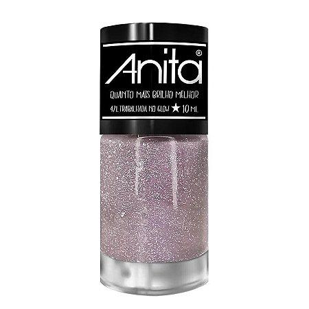 Esmalte Anita quanto mais brilho melhor trabalhada no Glow 10ml