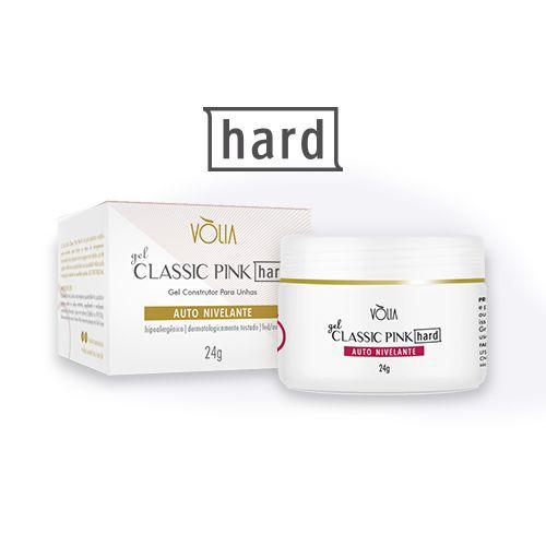 Gel para unhas Vòlia de classic pink hard gel construtor UV/LED 24g