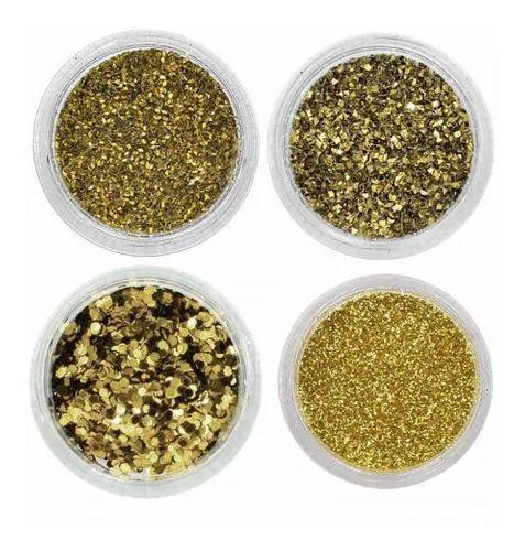 Glitter para unhas decorativa Amarelo N.1 Santa Clara