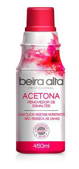Removedor de esmaltes com acetona Beira Alta 450ml Profissional