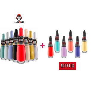 Coleção de Esmalte Netflix + La Casa de Papel com 14 Unidades