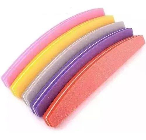 Lixas Buffer Bumerangue Para Polir Unha Gel Acrílico 100/180 kit com 5 unidades