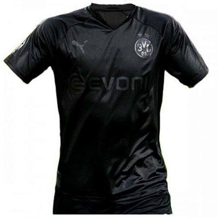 Camisa de Time Borussia Dortmund 100TH Preta Masculina