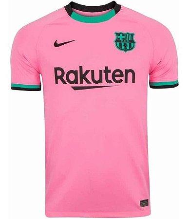 Camisa de Time Barcelona Away Rosa Masculina