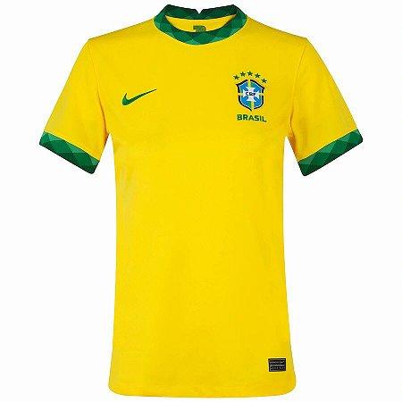 Camisa de Time Brasil I Amarela Masculina 2021