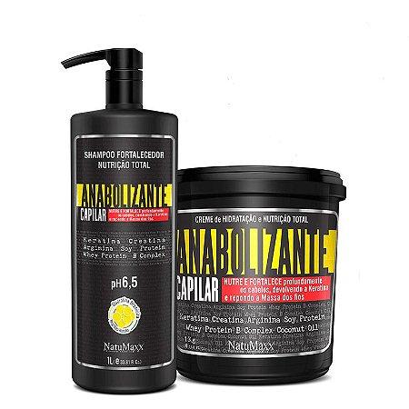 Kit Fortificante Capilar - Shampoo 1 Lt + Máscara 1 kg NatuMaxx