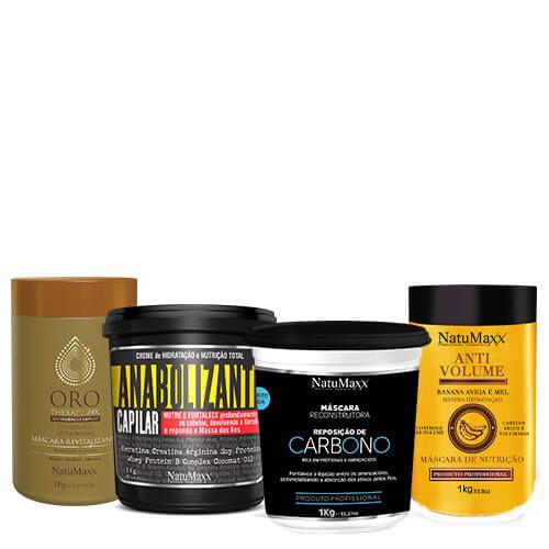 Cronograma - AntiVolume 1kg + Fortificante 1Kg + Oro Therapy 1Kg + Carbono 1 kg NatuMaxx