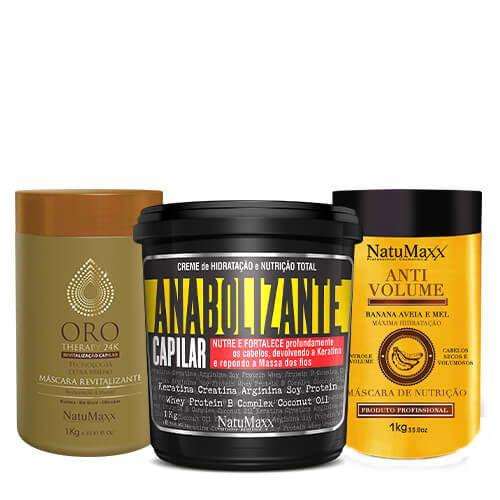 Cronograma - AntiVolume 1kg + Fortificante 1kg + Oro Therapy 1kg NatuMaxx