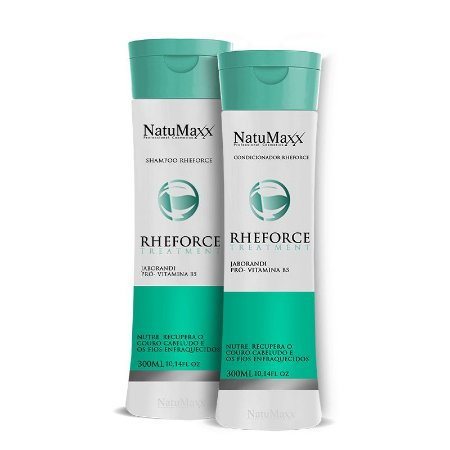 Kit RheForce - Shampoo 300ml + Condicionador 300ml NatuMaxx