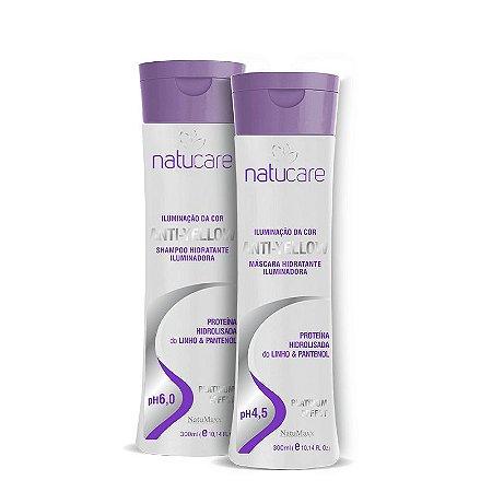 Kit Anti Yellow Shampoo 300ml + Mascara 300ml NatuMaxx