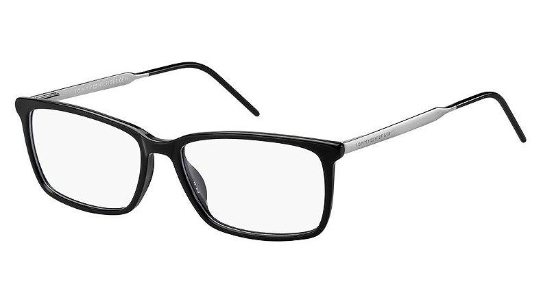 Óculos de grau Tommy Hilfiger TH1641 80755-Preto/Branco