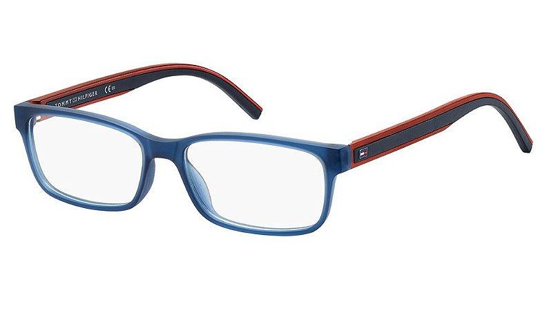Óculos de grau Tommy Hilfiger TH1495 PJP 5416 -Azul/Vermelho