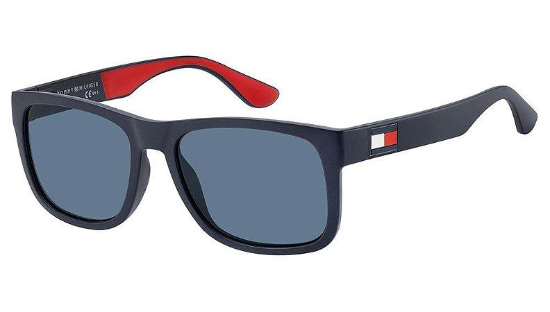Óculos de sol Tommy Hilfiger TH 1556/S 8RU 56KU - Azul fosco
