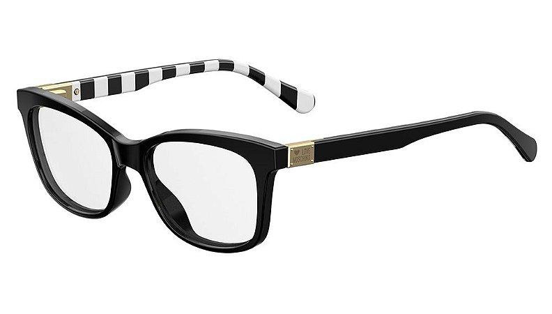 Óculos de grau Love Moschino MOL515 807 5216 - Preto/Branco