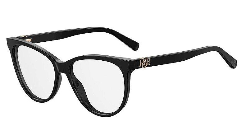 Óculos de grau Love Moschino MOL521 807 5516 - Preto Acompanha BRINDE