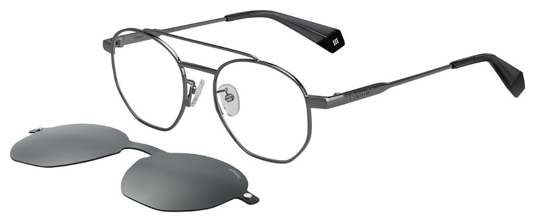 Óculos de grau Polaroid PLD6083/G/CS KB750M9-Prata