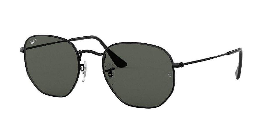Óculos de sol Ray Ban Hexogonal 0RB3548NL 002 58 Preto