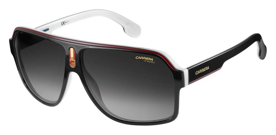 Óculos de sol Carrera 1001/S 80S 629O-Preto/Branco