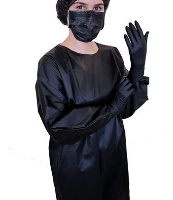 Avental Descartável Protdesc Black M/L 30gm² 10un