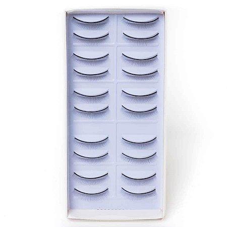 Cartela de Cílios postiços para treino 10 pares