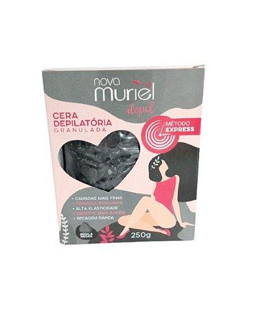 Cera Depilatória Granulada Argila Negra Muriel 250g