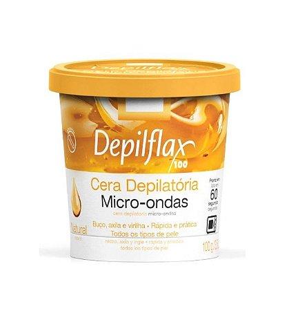 Cera Depilatória Micro-ondas Natural Depilflax 100g
