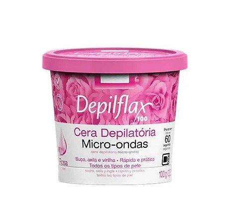 Cera Depilatória Micro-ondas Rosas Depilflax 100g
