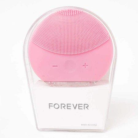 Esponja Elétrica de Limpeza Facial Forever Rosa