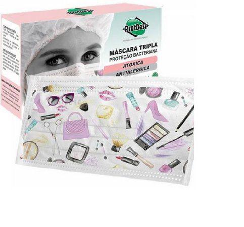 Mascara Descartável Protdesc Fashion c/ 20 un